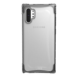 The Urban Armour Gear Plyo semi-transparent tough case in Ice for the Samsung Galaxy Note 10 Plus 5G features reinforced Air-Soft corners and an optimised honeycomb structure for superior drop and shock protection.