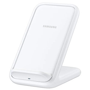 Charge your wireless compatible Samsung devices  quickly with the official fast wireless charging stand 15V in white. Spend less time waiting around for your phone to charge with this official Samsung fast wireless charging stand.