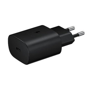 An Official Samsung EU adaptive fast mains charger for your Samsung Note 10. With a power output of 25W, you'll have battery within minutes as this charger is ultra quick. This is the exact that charger that comes with these phones.