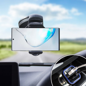 Essential items you need for your smartphone during a car journey all within the Olixar DriveTime In-Car Pack. Featuring a robust one-handed phone car mount and car charger with an additional USB port for your Samsung Galaxy Note 10.