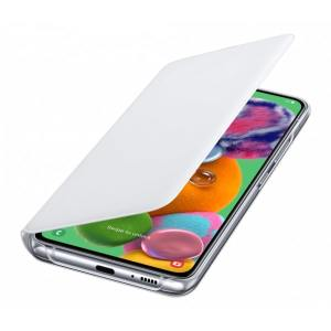 Protect your Samsung Galaxy A90 5G's back, sides and screen from harm while keeping your most vital cards close to hand with the official flip wallet cover in White from Samsung.