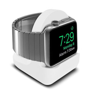 Display your Apple Watch Series 5 / 4 / 3 / 2 / 1 on your desk or bed side cabinet with this minimalist stand from Olixar. Designed to be used with your existing charger, the stand features a built-in cable management system.