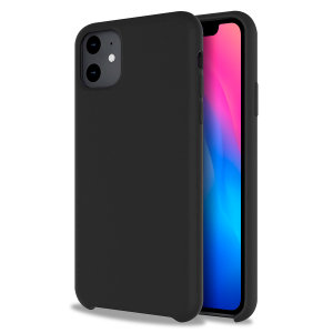 Custom moulded for the iPhone 11, this black soft silicone case from Olixar provides excellent protection against damage as well as a slimline fit for added convenience.