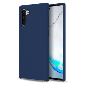 Custom moulded for the Samsung Galaxy Note 10, this midnight blue soft silicone case from Olixar provides excellent protection against damage as well as a slimline fit for added convenience.