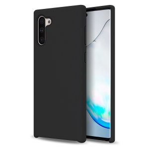 Custom moulded for the Samsung Galaxy Note 10, this black soft silicone case from Olixar provides excellent protection against damage as well as a slimline fit for added convenience.