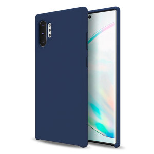 Custom moulded for the Samsung Galaxy Note 10 Plus, this midnight blue soft silicone case from Olixar provides excellent protection against damage as well as a slimline fit for added convenience.