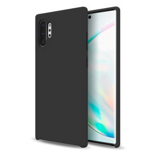 Custom moulded for the Samsung Galaxy Note 10 Plus, this black soft silicone case from Olixar provides excellent protection against damage as well as a slimline fit for added convenience.