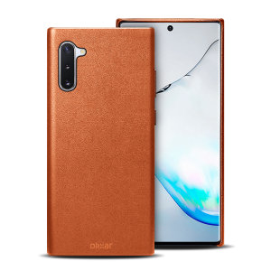 Crafted from premium genuine leather, this exquisite brown case from Olixar for the Samsung Galaxy Note 10 provides stunning style and prestigious protection for your phone in a slim and sleek package.