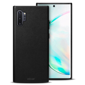 Crafted from premium genuine leather, this exquisite black case from Olixar for the Samsung Galaxy Note 10 Plus provides stunning style and prestigious protection for your phone in a slim and sleek package.