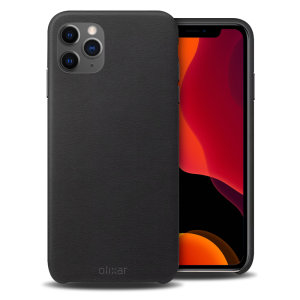 Crafted from premium genuine leather, this exquisite black case from Olixar for the iPhone 11 Pro provides stunning style and prestigious protection for your phone in a slim and sleek package.