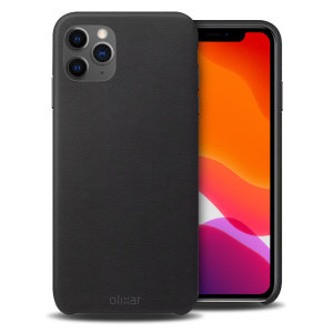 Crafted from premium genuine leather, this exquisite black case from Olixar for the iPhone 11 Pro Max provides stunning style and prestigious protection for your phone in a slim and sleek package.