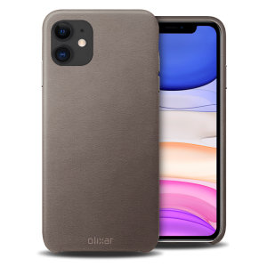 Crafted from premium genuine leather, this exquisite grey case from Olixar for the iPhone 11 provides stunning style and prestigious protection for your phone in a slim and sleek package.