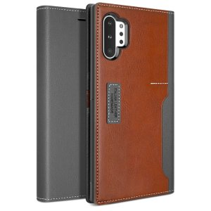The K3 Wallet Case in Grey/Brown for the Samsung Galaxy Note 10 Plus 5G comes complete with card slots, a large document pocket and is made with luxurious leather-style materials for a classic, prestige and professional look.