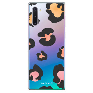 Take your Samsung Note 10 to the next level with this coloured leopard print phone case from LoveCases. Cute but protective, the ultrathin case provides slim fitting and durable protection against life's little accidents.