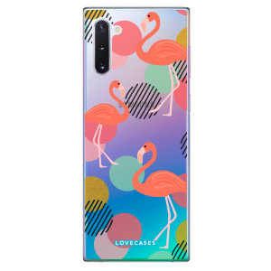 Give your Samsung Galaxy Note 10 a fun refresh with this flamingo design phone case from LoveCases. Cute but protective, the ultrathin case provides slim fitting and durable protection against life's little accidents.