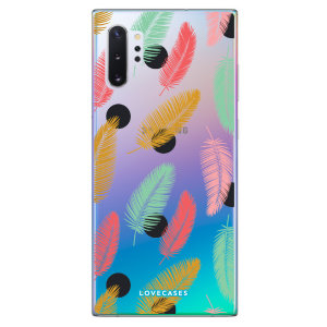 LoveCases Samsung Note 10 Plus Polka Leaf Phone Case - Clear Multi