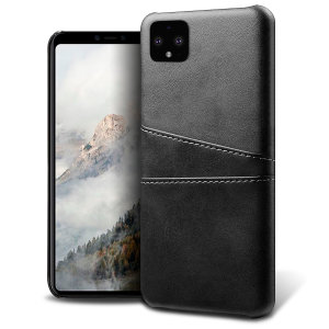 Designed for the Google Pixel 4 XL, this black executive leather-style case from Olixar provides a perfect fit and durable protection against scratches, knocks and drops with the added convenience of 2 RFID protected credit card-sized slots.