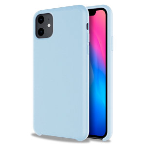 Custom moulded for the iPhone 11, this pastel blue soft silicone case from Olixar provides excellent protection against damage as well as a slimline fit for added convenience.