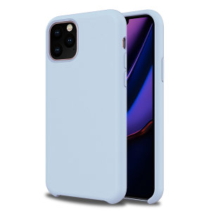 Olixar Soft Silicone iPhone 11 Pro Case - Pastel Blue