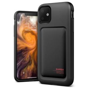 Protect your iPhone 11 with this precisely designed High Pro Shield case in Matt black from VRS Design. Made with tough yet slim material, this hard-shell construction with soft core features patented sliding technology to store two credit cards or ID.