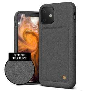 Protect your iPhone 11 with this precisely designed High Pro Shield case in Sand Stone from VRS Design. Made with tough yet slim material, this hard-shell construction with soft core features patented sliding technology to store two credit cards or ID.