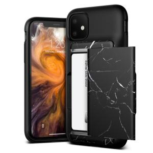 Protect your iPhone 11 with this precisely designed Damda Glide Shield case in Black Marble from VRS. Made with tough yet slim material, this hard-shell construction with soft core features patented sliding technology to store two credit cards or ID.