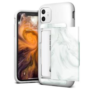 Protect your iPhone 11 with this precisely designed Damda Glide Shield case in White Marble from VRS. Made with tough yet slim material, this hard-shell construction with soft core features patented sliding technology to store two credit cards or ID.