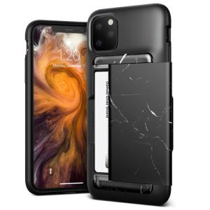 Protect your iPhone 11 Pro Max with the Damda Glide Shield case in Black Marble from VRS. Made with tough yet slim material, this hard-shell construction with soft core features patented sliding technology to store two credit cards or ID.