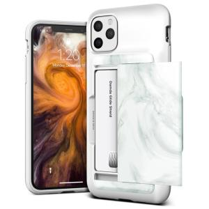 Protect your iPhone 11 Pro Max with this precisely designed Damda Glide Shield case in White Marble from VRS. Made with tough yet slim material, this hard-shell construction with soft core features patented sliding technology to store credit cards or ID.