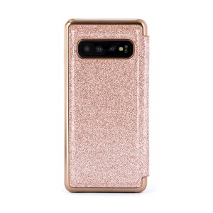 Form-fitting and bulk-free, the Glitsie case for your Samsung Galaxy S10 from Ted Baker sports an eye-catching yet sophisticated glitter appearance and feel while also offering superlative protection for your device from drops, scrapes and other damage.
