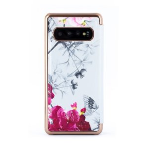 Ever wanted to check how you're looking on the go? With the Babylon Nickel Ted Baker Mirror Folio case for your Samsung Galaxy S10, you can do just that thanks to a concealed mirror on the inside of the case's flip cover.
