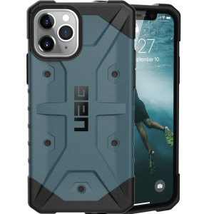 The UAG Pathfinder Slate Case for the iPhone 11 Pro features a classic tough-looking, composite design with a soft impact-absorbing core and hard exterior that provides superb protection in all situations.