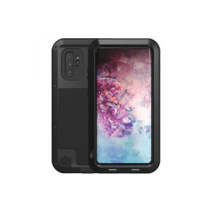 Protect your Samsung Galaxy Note 10 Plus with one of the toughest and most protective cases on the market, ideal for helping to prevent possible damage from water and dust - this is the black Love Mei Powerful Protective Case.