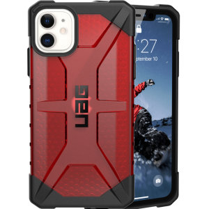 The Urban Armour Gear Plasma semi-transparent tough case in Magma for the iPhone 11 features a protective case with a brushed metal UAG logo insert for an amazing rugged and stylish design.