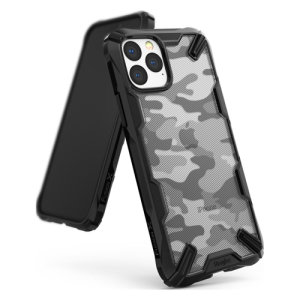Keep your Apple iPhone 11 Pro protected from bumps and drops with the Rearth Ringke Fusion X Design tough case in Camo Black. Featuring a 2-part, Polycarbonate design, this case lives up to military drop-test standards.