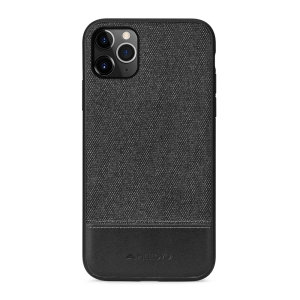 Protect your iPhone 11 Pro with this slim fitting and smooth touch fabric case from Meleovo. Featuring a premium black fabric with the contrasting leather Meleovo signature, this case matches the elegant design of your new iPhone 11 Pro perfectly.