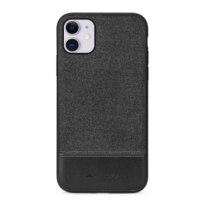 Protect your iPhone 11 with this slim fitting and smooth touch fabric case from Meleovo. Featuring a premium black fabric with the contrasting leather Meleovo signature, this case matches the elegant design of your new iPhone 11 perfectly.