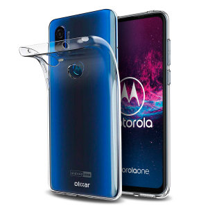 Custom moulded for the Motorola One Action, this 100% clear Ultra-Thin case by Olixar provides slim fitting and durable protection against damage.