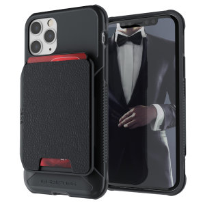 The Exec 4 premium wallet case in Black provides your Aplle iPhone 11 Pro with fantastic protection. Also featuring storage slots for your credit cards, ID and cash.