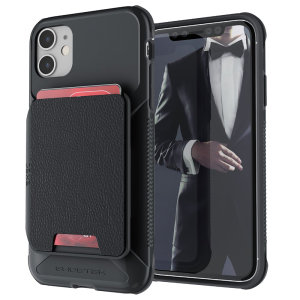 The Exec 4 premium wallet case in Black provides your Apple iPhone 11 with fantastic protection. Also featuring storage slots for your credit cards, ID and cash.