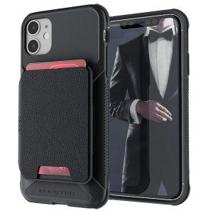 De Exec 4 premium portemonnee-hoes biedt uw iPhone 11 fantastische bescherming. Ook met opbergvakken voor uw creditcards, ID en contant geld.