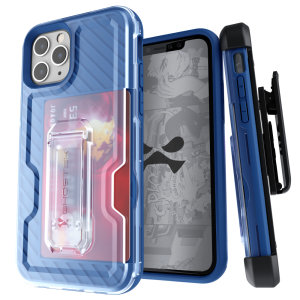 The Apple iPhone 11 Pro Iron Armor 3 case in Blue from Ghostek provides your Apple iPhone 11 Pro with fantastic all-around protection. Includes a card slot for added convenience.