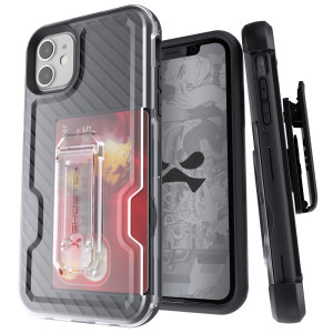 The Apple iPhone 11 Iron Armor 3 case in Black from Ghostek provides your Apple iPhone 11 with fantastic all-around protection. Includes a card slot for added convenience.