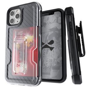 Offrez la protection ultime à votre iPhone 11 Pro Max avec la coque Ghostek Iron Armor 3 en coloris noir. Robuste et élégante, elle protège votre appareils des chocs et des chutes tout en incluant une béquille pliable. Livrée avec un clip ceinture amovible, une protection d'écran en verre trempé, elle vous propose un tout-en-un tout simplement impressionnant.