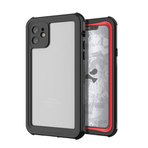 Shield your Apple iPhone 11 on both land and at sea with the extremely tough, yet incredibly stylish Nautical 2 Waterproof case from Ghostek in Red with red trim. Protecting your Apple iPhone 11 from depths of up to 1 meter for up to 30 minutes.