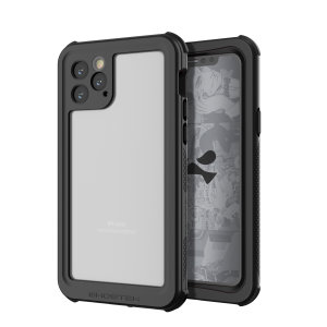 Shield your Apple iPhone 11 Pro Max on both land and at sea with the extremely tough, yet incredibly stylish Nautical 2 Waterproof case from Ghostek in Black with red trim. Protecting your iPhone from depths of up to 1 meter for up to 30 minutes.