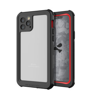 Shield your Apple iPhone 11 Pro Max on both land and at sea with the extremely tough, yet incredibly stylish Nautical 2 Waterproof case from Ghostek in Red with red trim. Protecting your iPhone 11 Pro Max from depths of up to 1 meter for up to 30 minutes.
