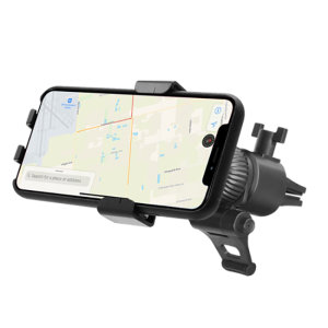Keep your phone close at hand and safely in view while driving with the Macally Gravity Linkage Car Air Vent Holder. Designed with the latest gravity link technology, this holder automatically adjusts for a secure, tight and sturdy grip for any phone.