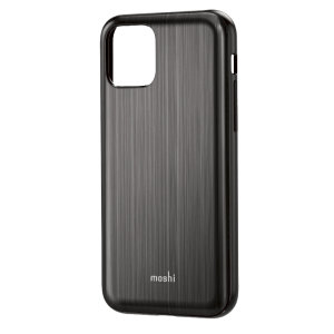 Protect your iPhone 11 Pro Max with this stylish Moshi iGlaze hybrid case in Armour Black. The iGlaze provides exceptional protection and accentuates your iPhone 11 Pro Max's elegance through the use of premium materials.