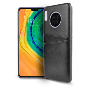 Designed for the Huawei Mate 30, this black executive leather-style case from Olixar provides a perfect fit and durable protection against scratches, knocks and drops with the added convenience of 2 RFID protected credit card-sized slots.